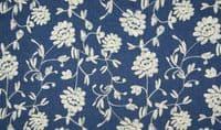 Chambrai CLOONEY Embroidered Cotton Denim Fabric Material - Ecru